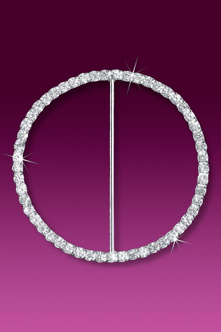 "3"" Circle Rhinestone Buckle Slider"