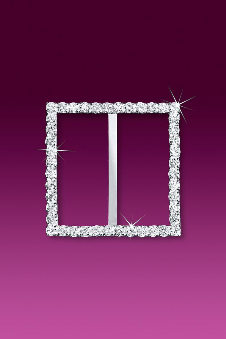 "2"" Square Rhinestone Buckle Slider"
