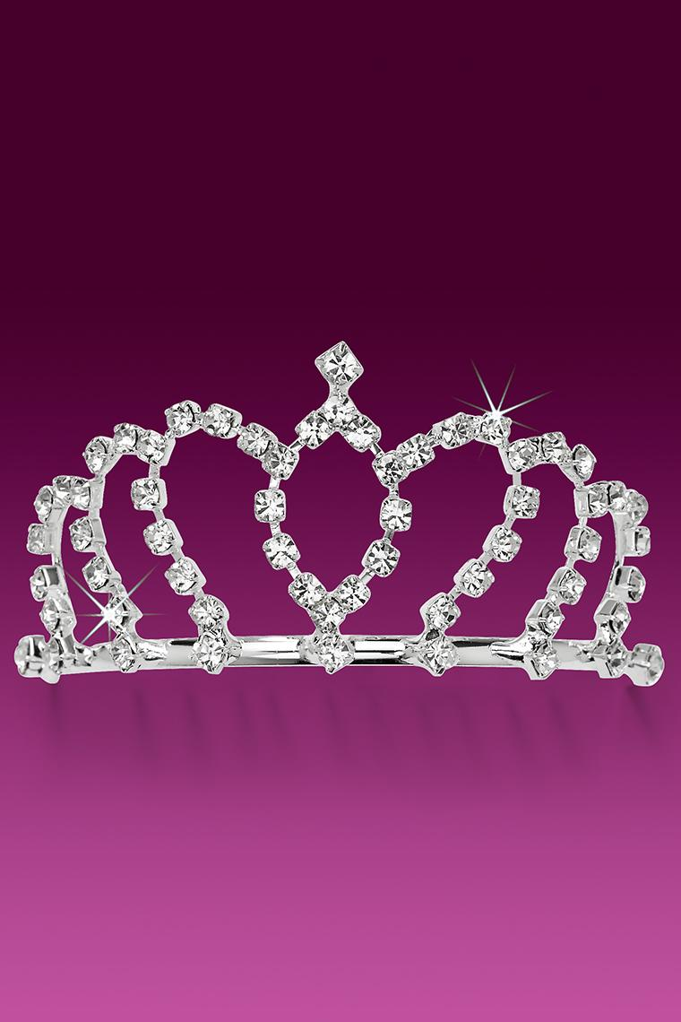 Crown Royale Crystal Rhinestone Tiara Comb