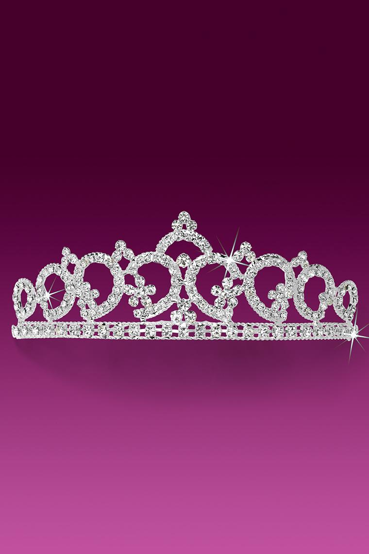 Regal Princess Crystal Rhinestone Tiara Comb