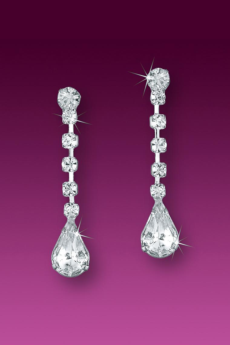 Celebrity Inspired Crystal Rhinestone Drop Earrings