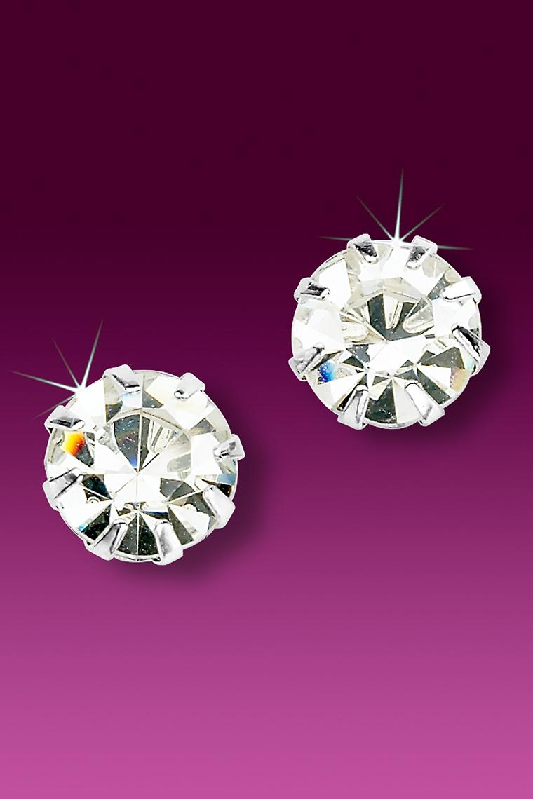 Austrian Crystal Rhinestone Stud Earrings - Pierced