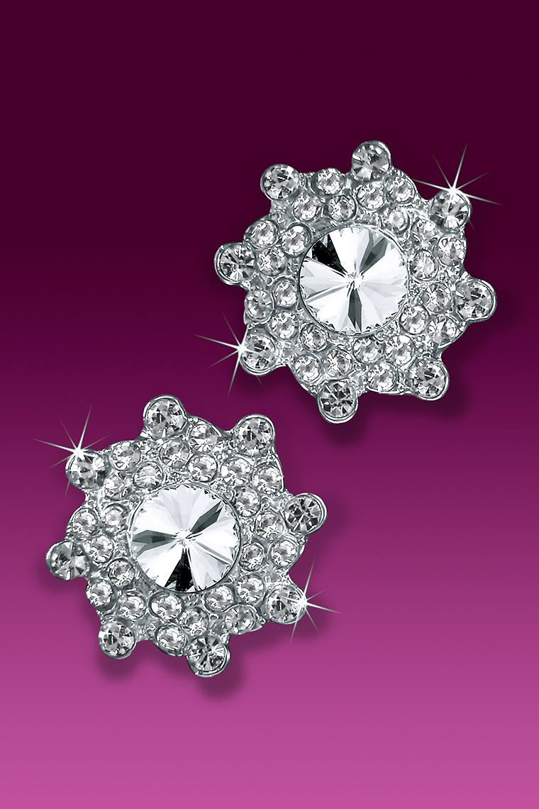 Go Glam Rhinestone Dance Earrings - Crystal Pierced