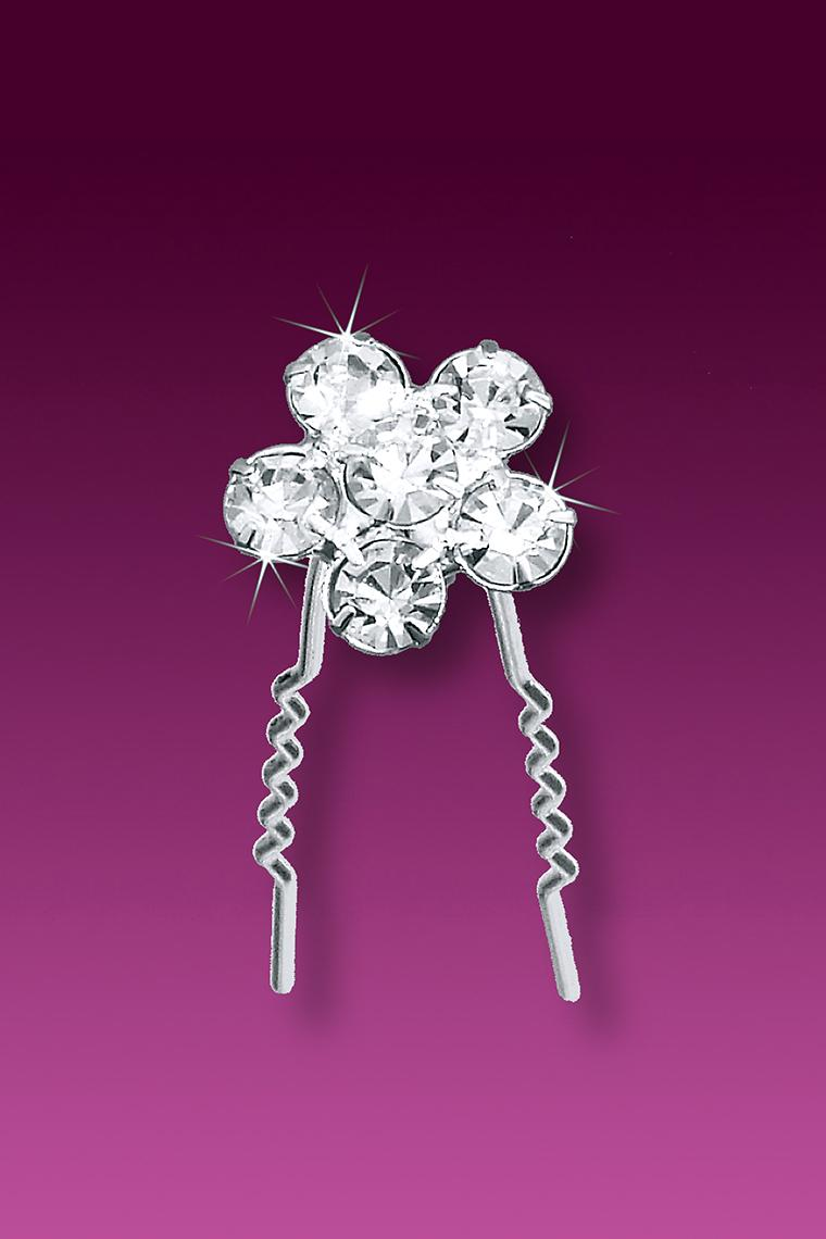 3-Piece Posy Crystal Rhinestone Wedding Hair Pins