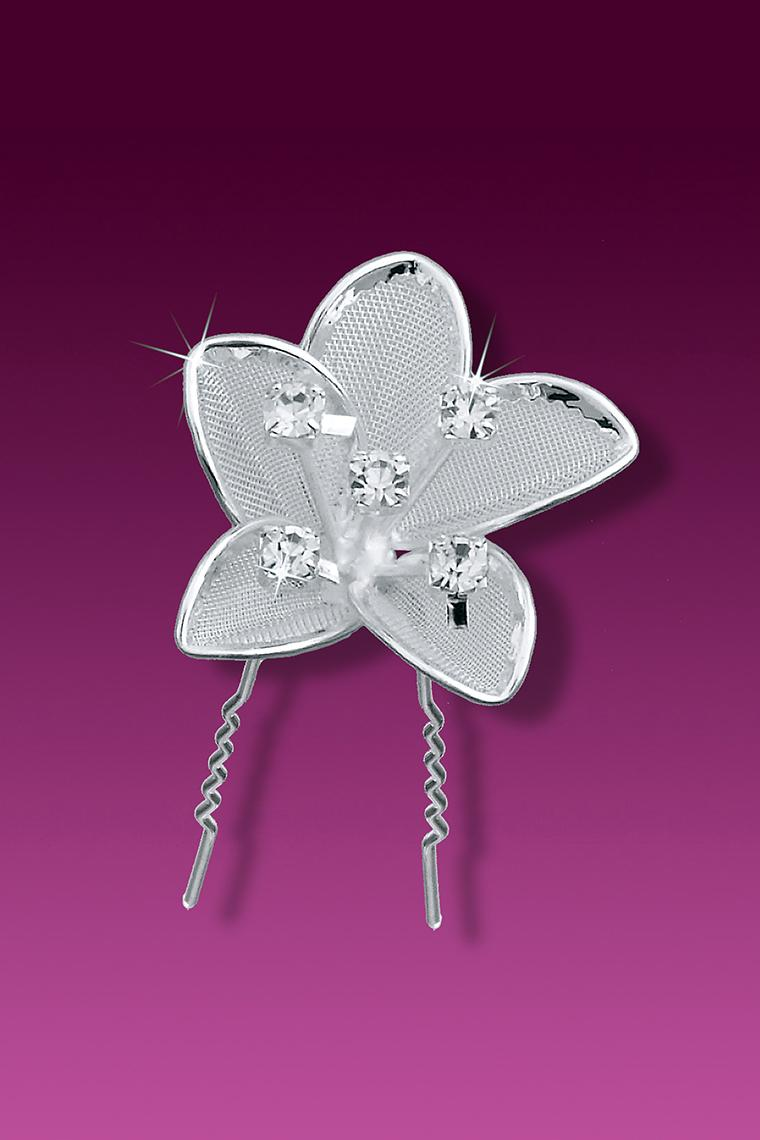 3-Piece Bejeweled Flower Hair Pins