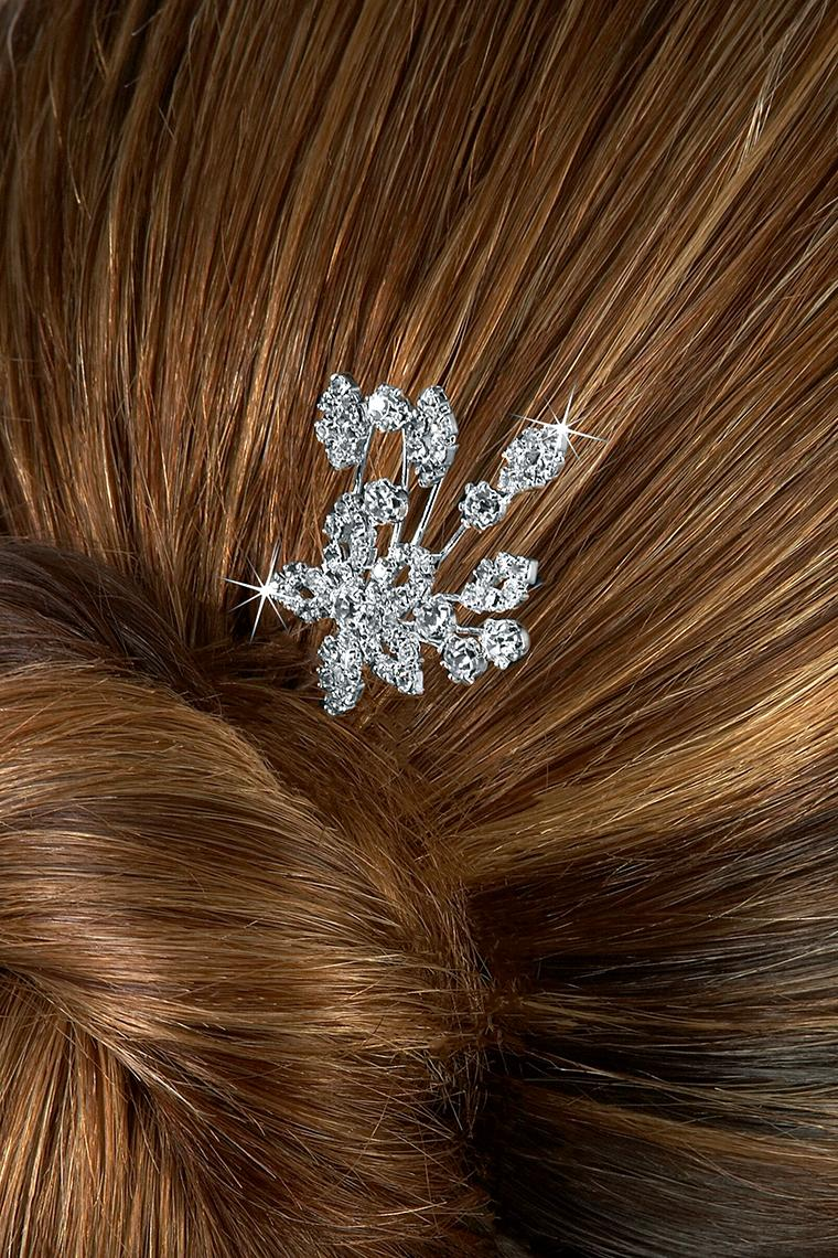 Flower Burst Crystal Rhinestone Hair Pin