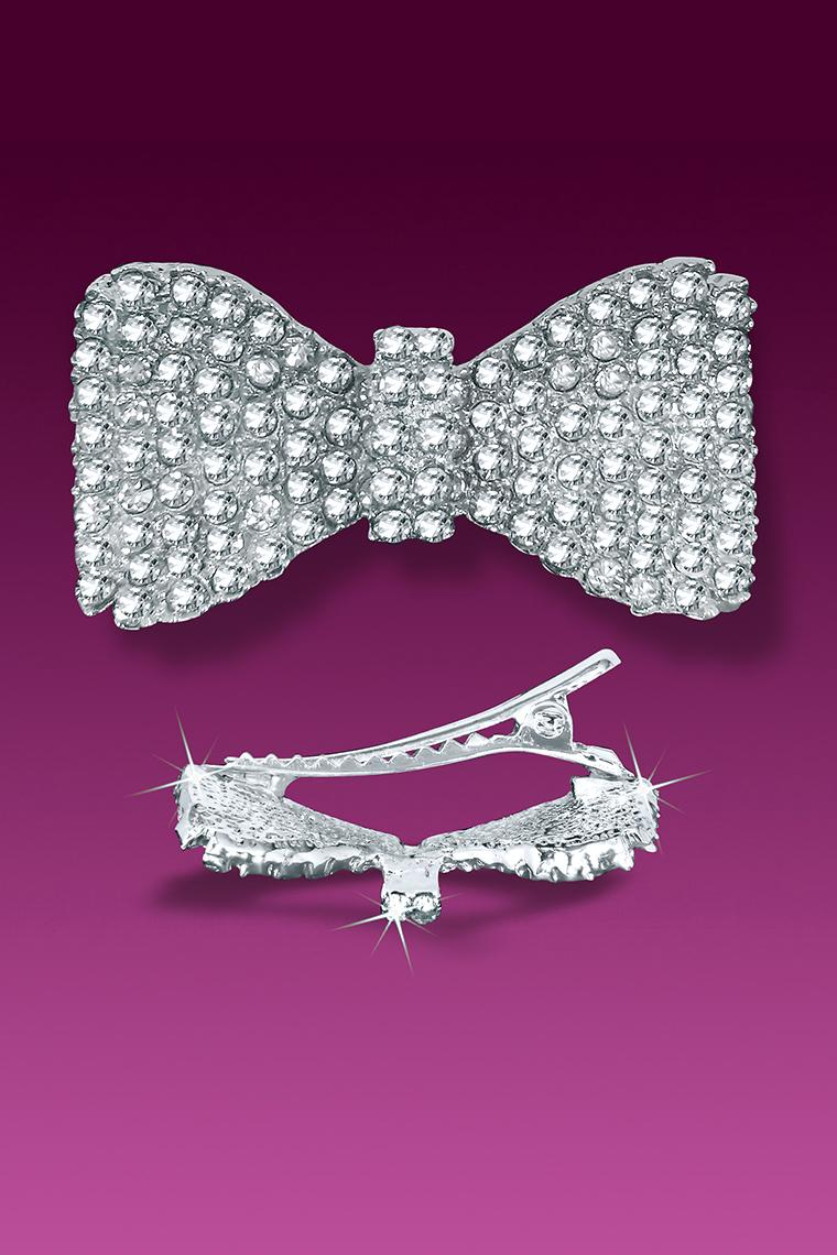 Pretty Girl Crystal Rhinestone Bow Hair Pin