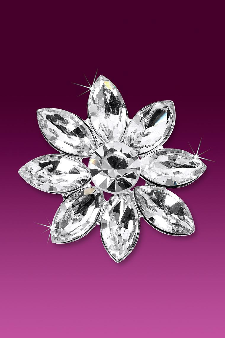 Large Crystal Rhinestone Daisy Floral Hair Pin