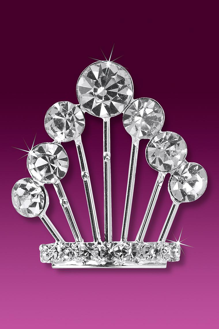 Miss Empress Crystal Rhinestone Crown Hair Pin