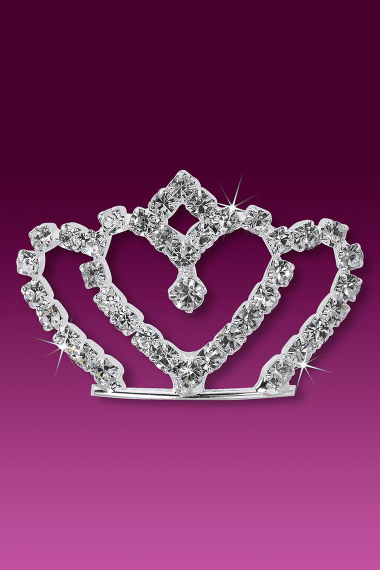 My Sweet Heart Crystal Rhinestone Crown Hair Pin
