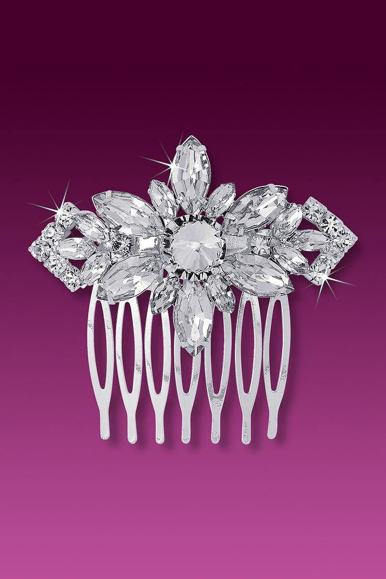 Exquisite Large Marquis Crystal Rhinestone Hair Comb