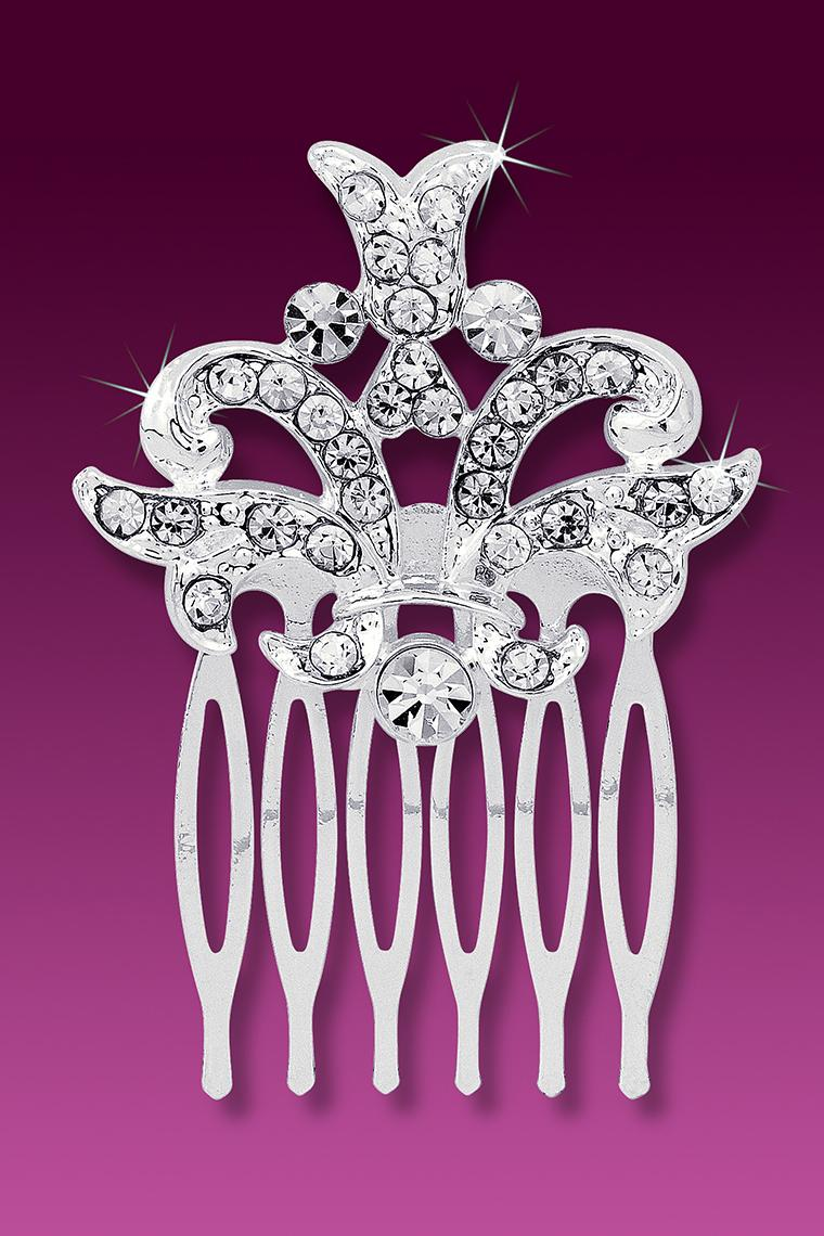 Regal Royalty Small Crystal Rhinestone Hair Comb