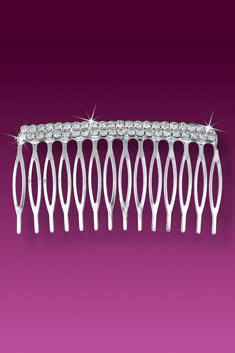 Double Row Crystal Rhinestone Hair Comb