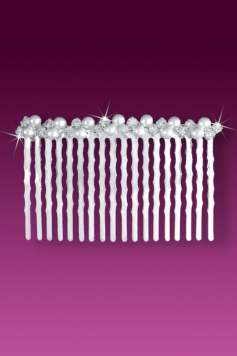 Pearl and Crystal Rhinestone Bridal Hair Comb