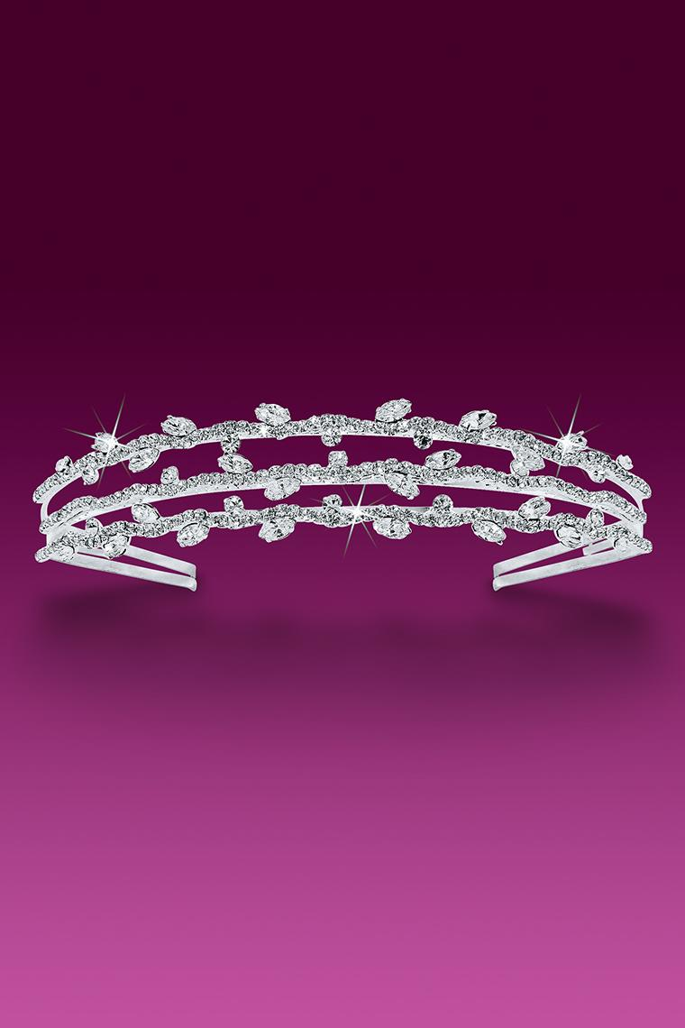 3-Row Crystal Rhinestone Headband