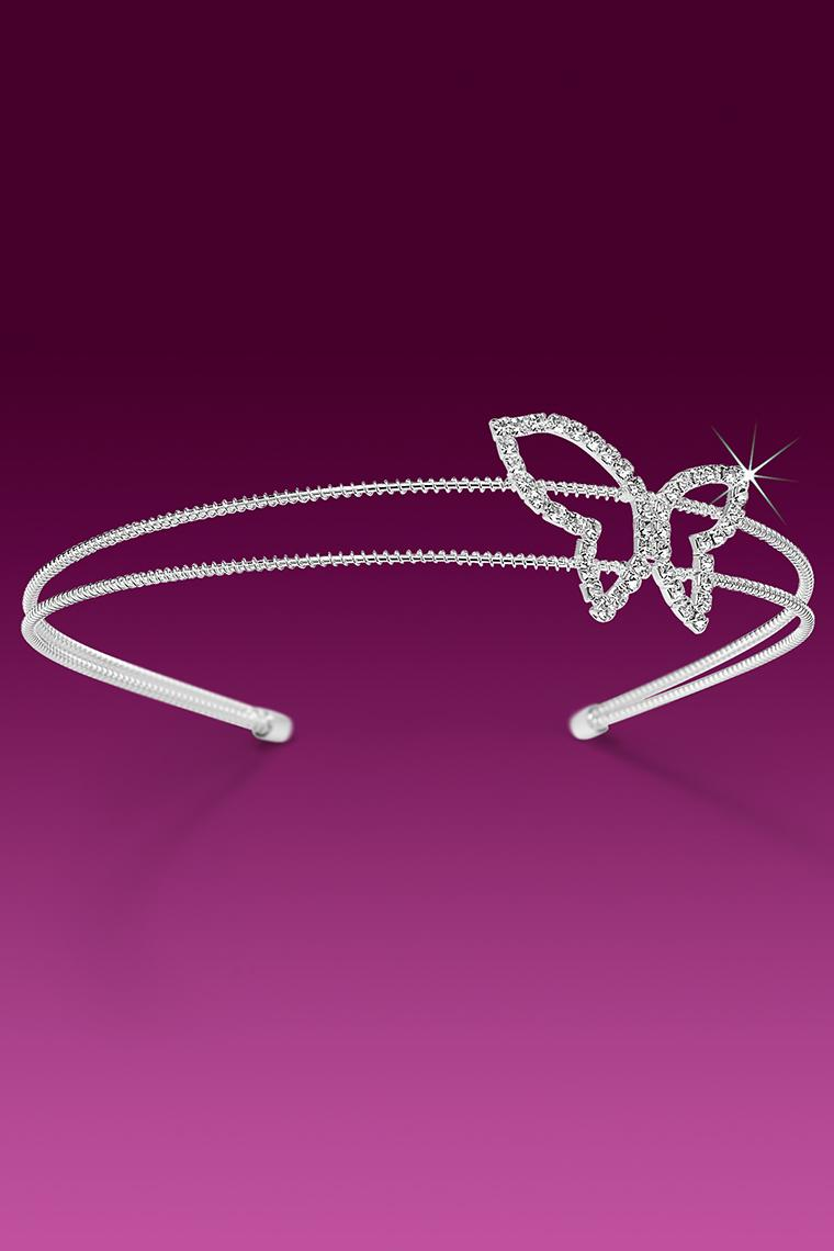 Pretty Butterfly Crystal Rhinestone Headband