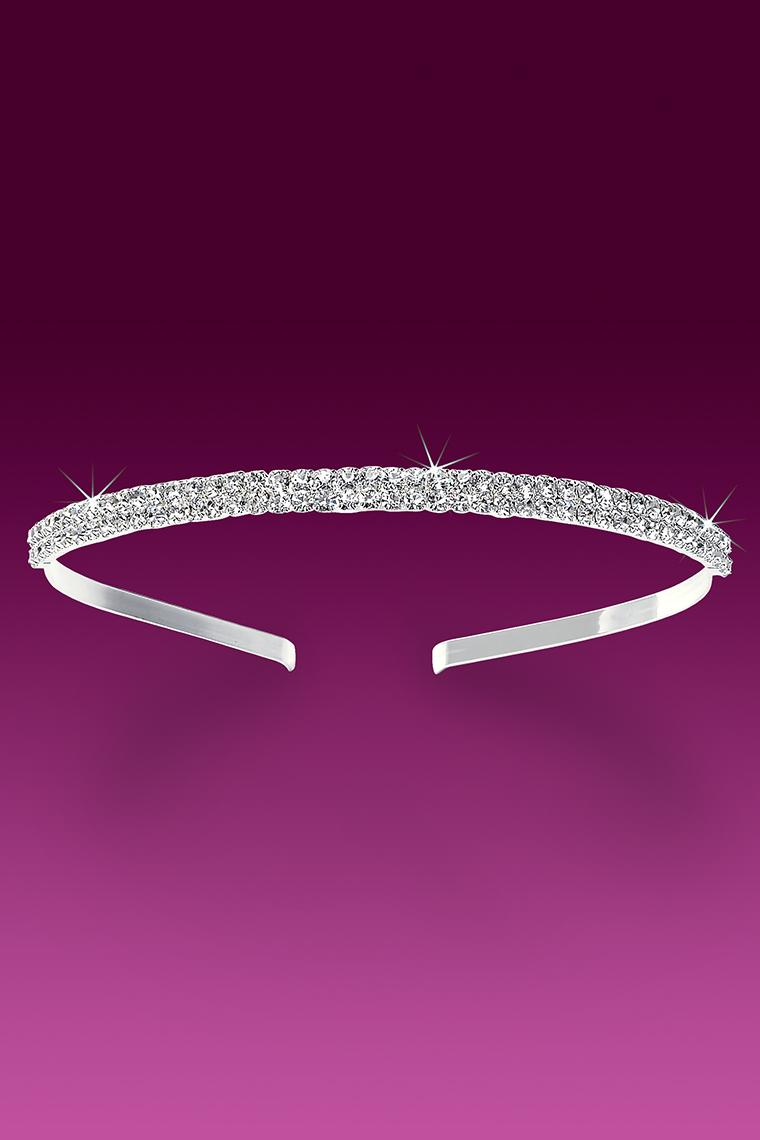 Pretty 2-Row Crystal Rhinestone Headband