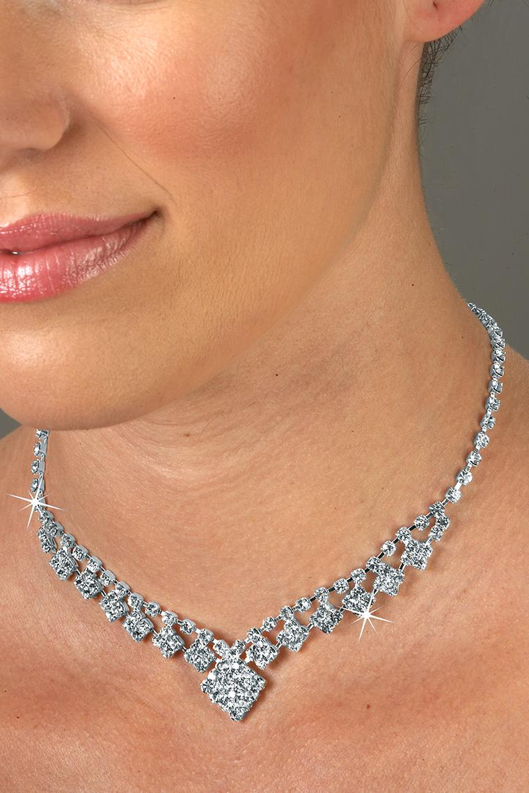 Diamond Crystal Rhinestone Drop Necklace