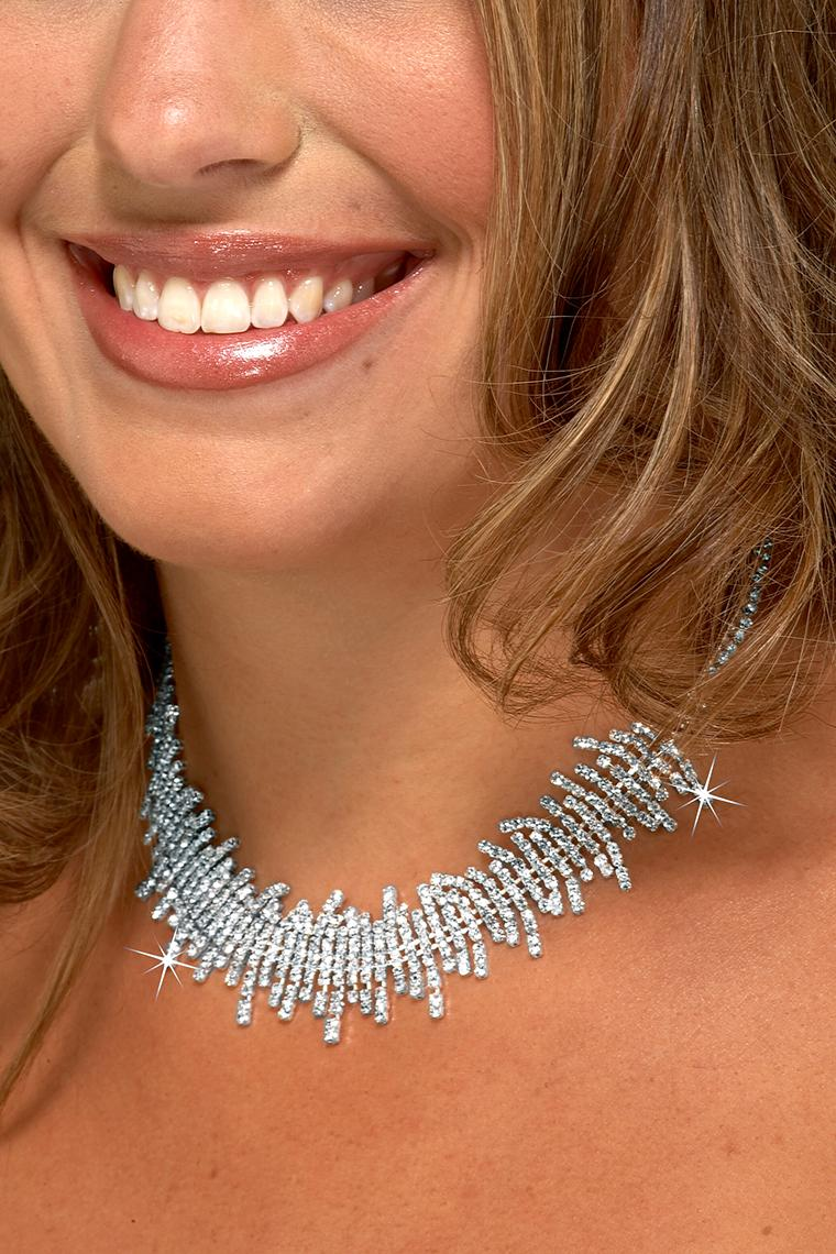 Icicles Crystal Rhinestone Collar Necklace