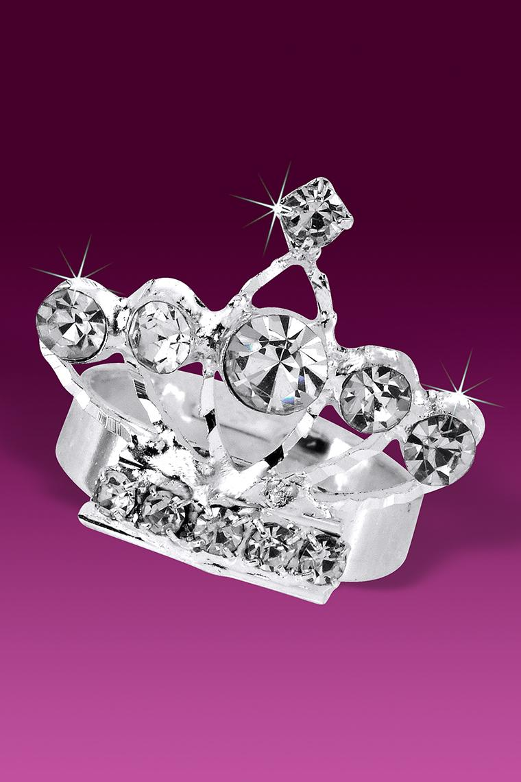 Pretty Princess Crystal Rhinestone Tiara Crown Ring