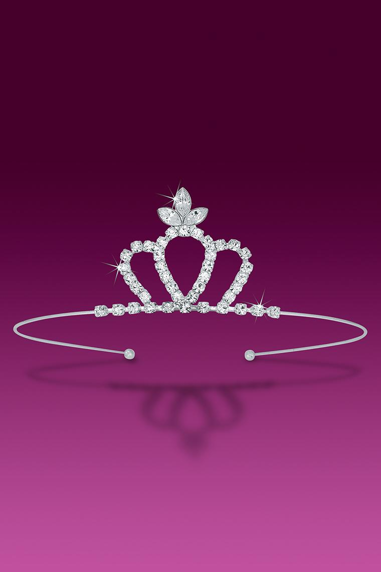 Glamour Girl Crystal Rhinestone Tiara Crown