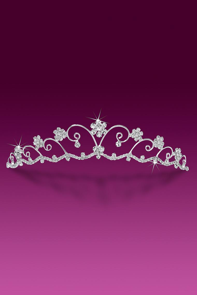 Crystal Rhinestone Flower Wedding Tiara