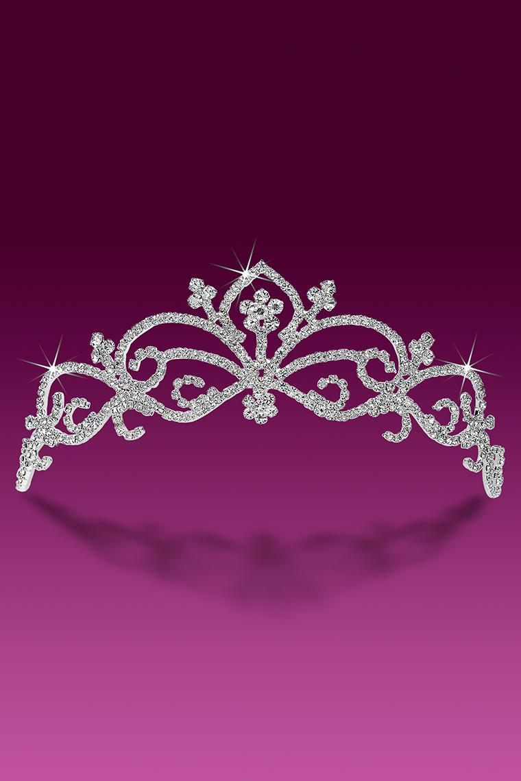 Contessa Top Crystal Rhinestone Tiara