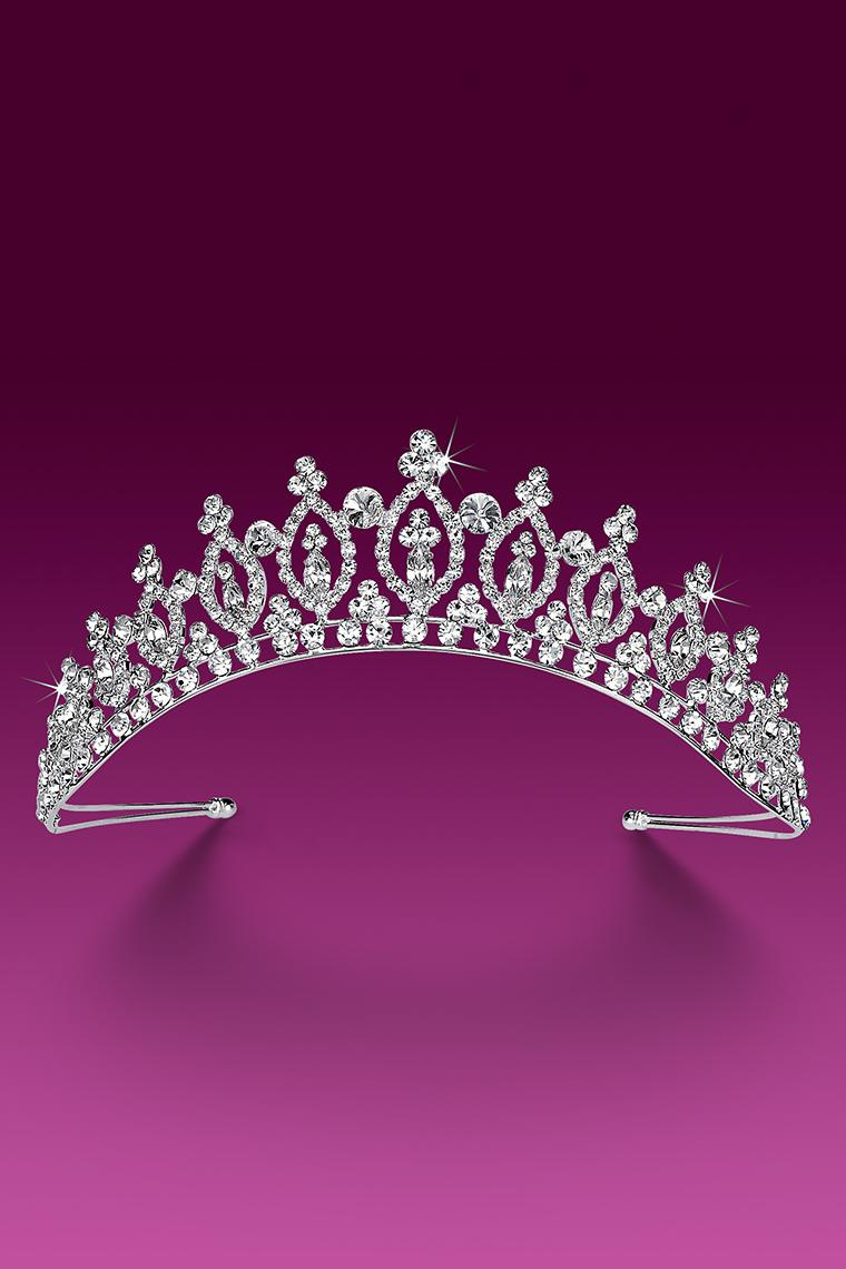 Royal Princess Pageant Crown Crystal Rhinestone Tiara