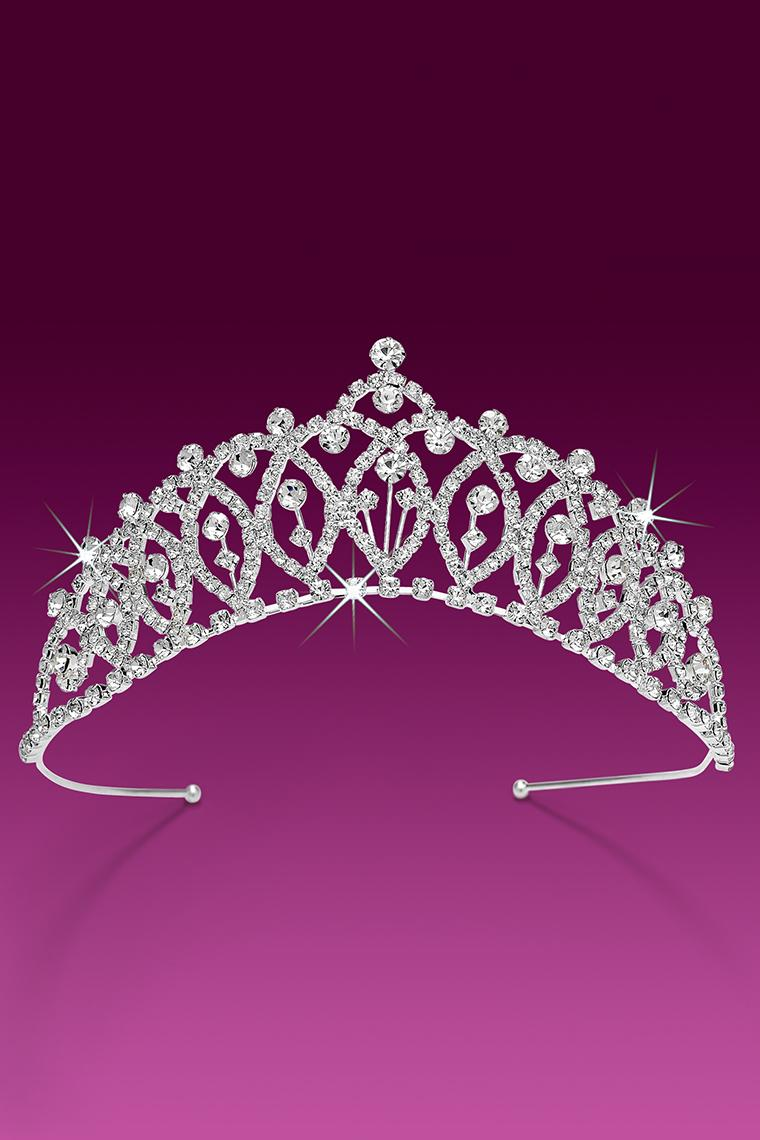 Crystal Crown Rhinestone Pageant Tiara