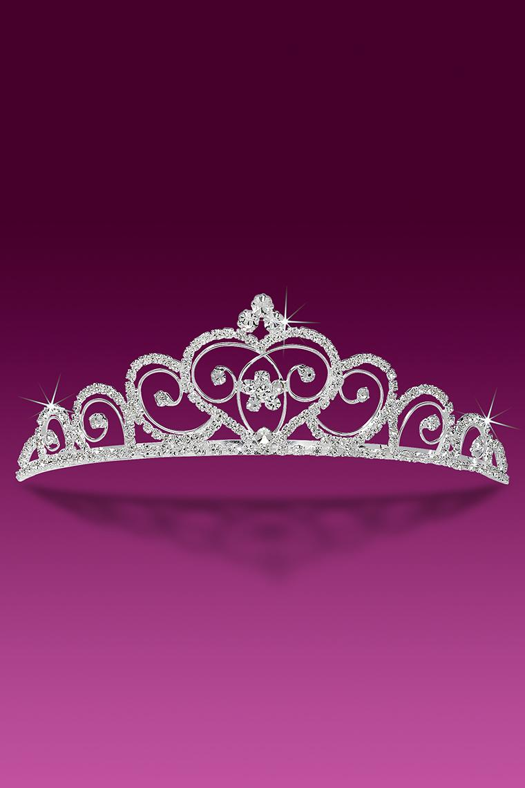 Graceful Heart Crystal Rhinestone Tiara