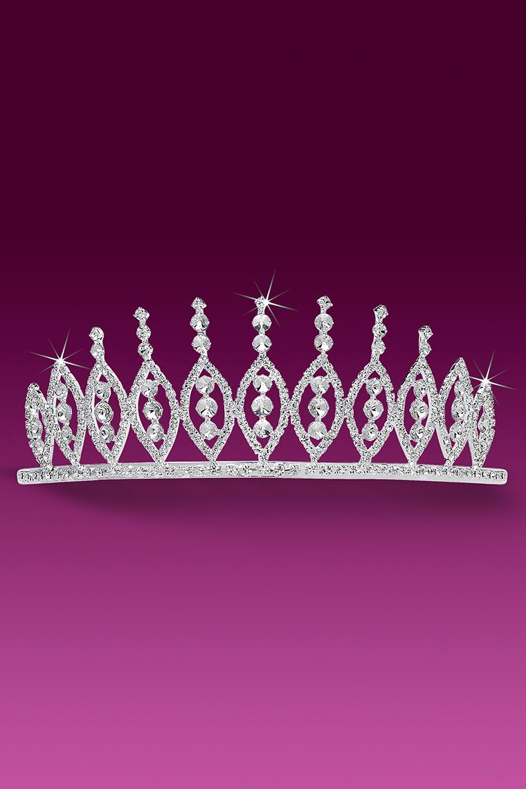 Royal Crystal Rhinestone Pageant Crown Tiara