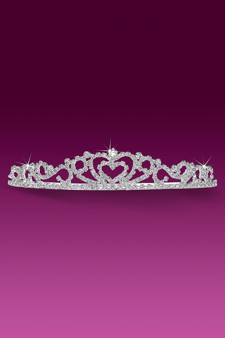 Joining Hearts Crystal Rhinestone Bridal Tiara