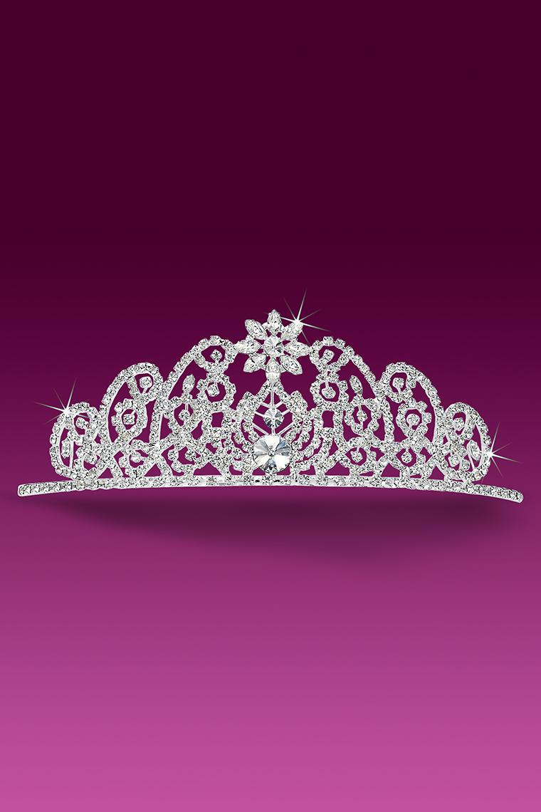 Jeweled Star Crystal Rhinestone Pageant Tiara