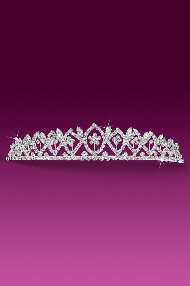 Diamond Pattern Crystal Rhinestone Tiara