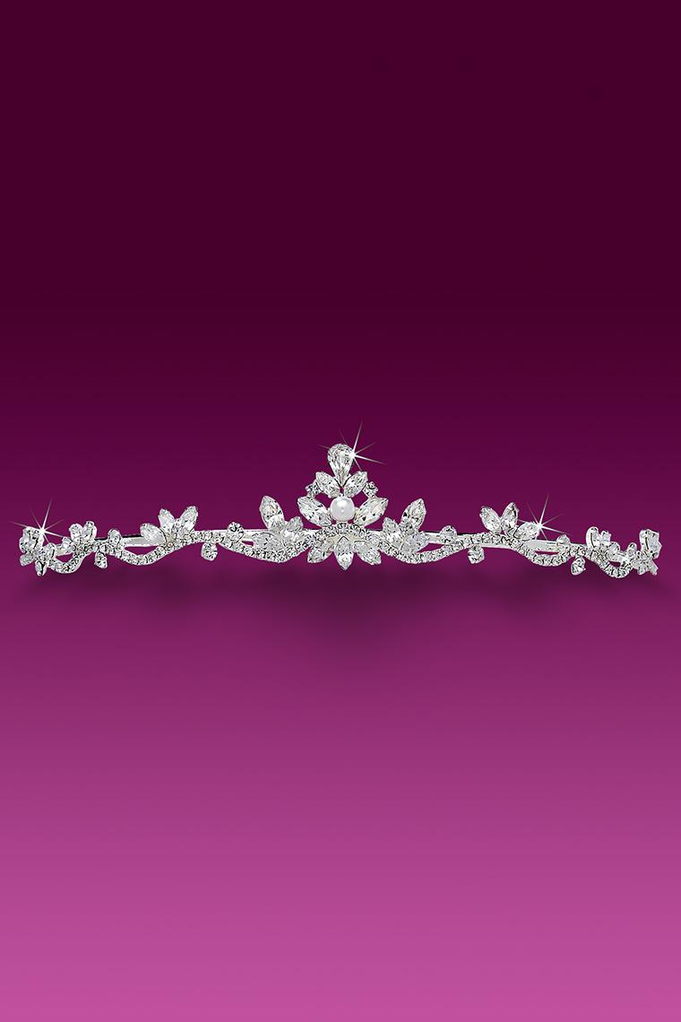 Princess Grace Pearl and Crystal Rhinestone Tiara