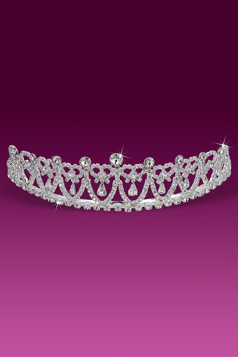 Princess Diana Inspired Crystal Rhinestone Pageant Tiara