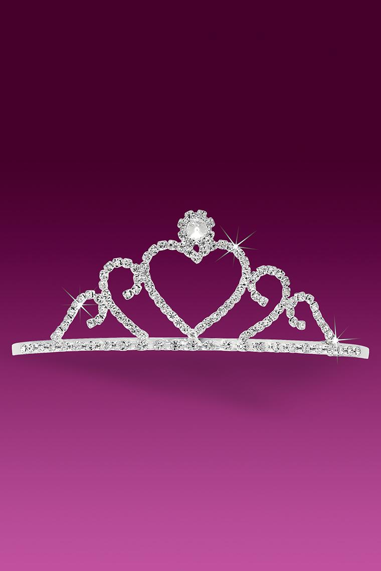Princess Heart Crystal Rhinestone Tiara