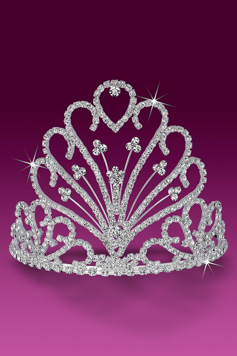Beauty Pageant Floral Crystal Rhinestone Tiara
