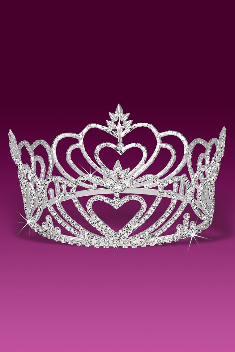 Royal Hearts Beauty Pageant Crystal Rhinestone Crown