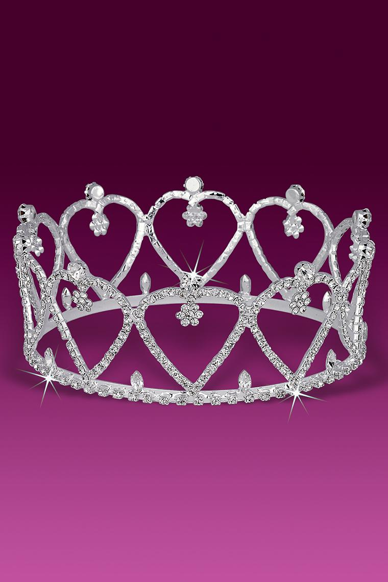 Sweet Heart Crystal Rhinestone Beauty Pageant Crown