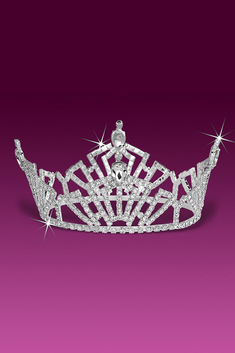 Classic Pageant Crystal Rhinestone Tiara Crown