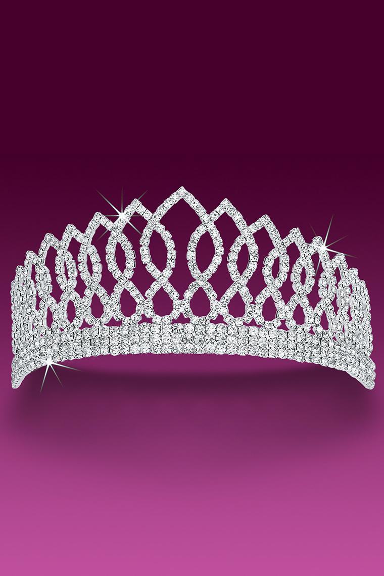 Pageant Princess Crystal Rhinestone Tiara