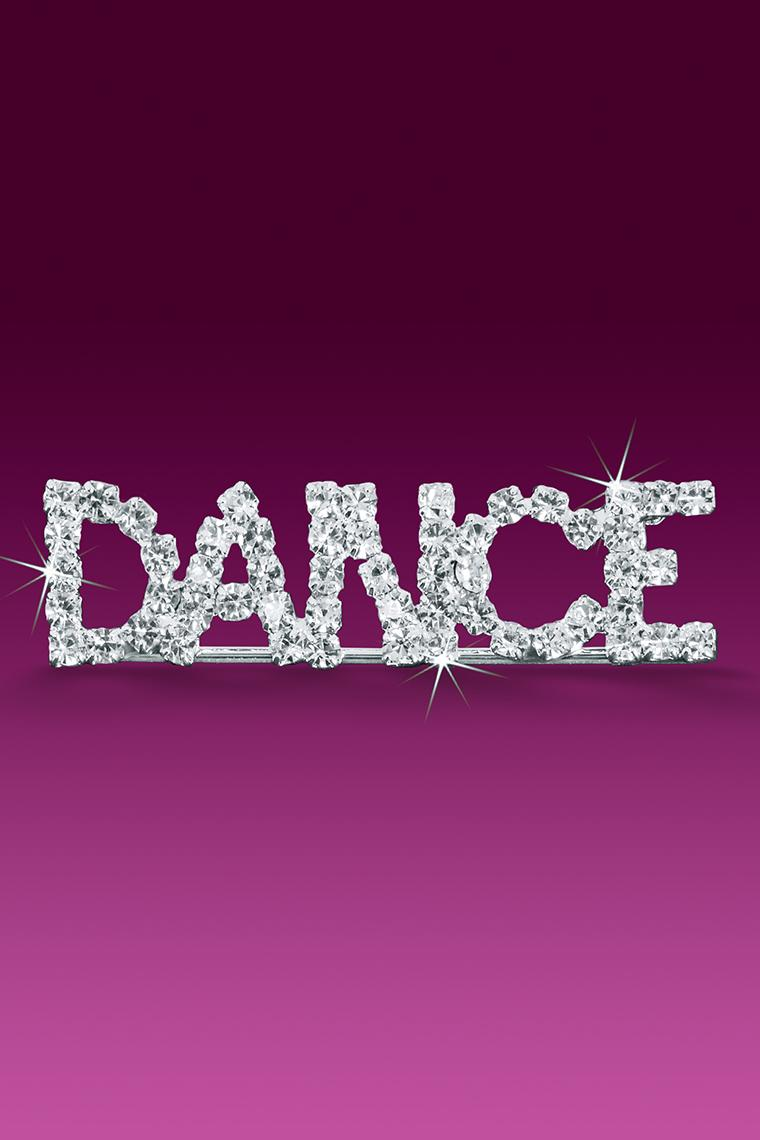 Dance Rhinestone Word Pin