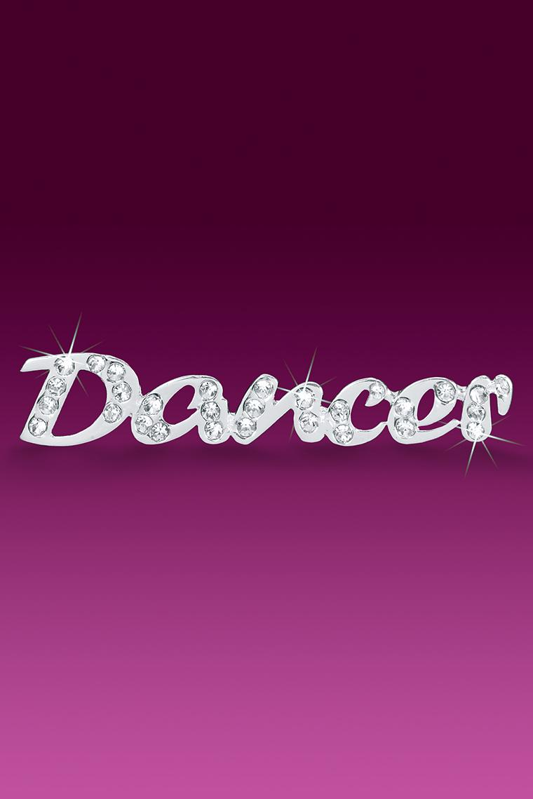 Dancer Rhinestone Word Pin Casted