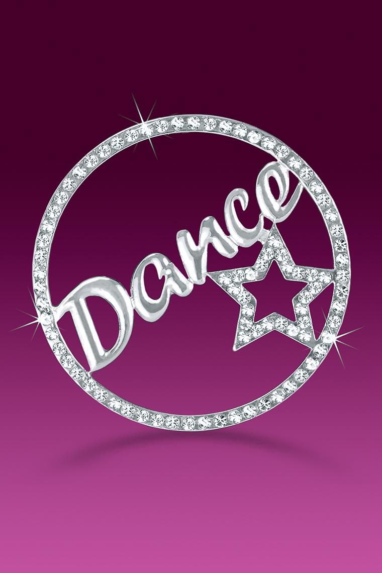 Dance Star Rhinestone Word Pin Casted