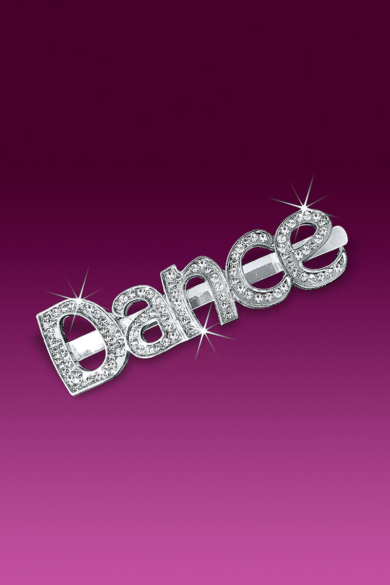 Crystal Dance Word Rhinestone Bobby Pin