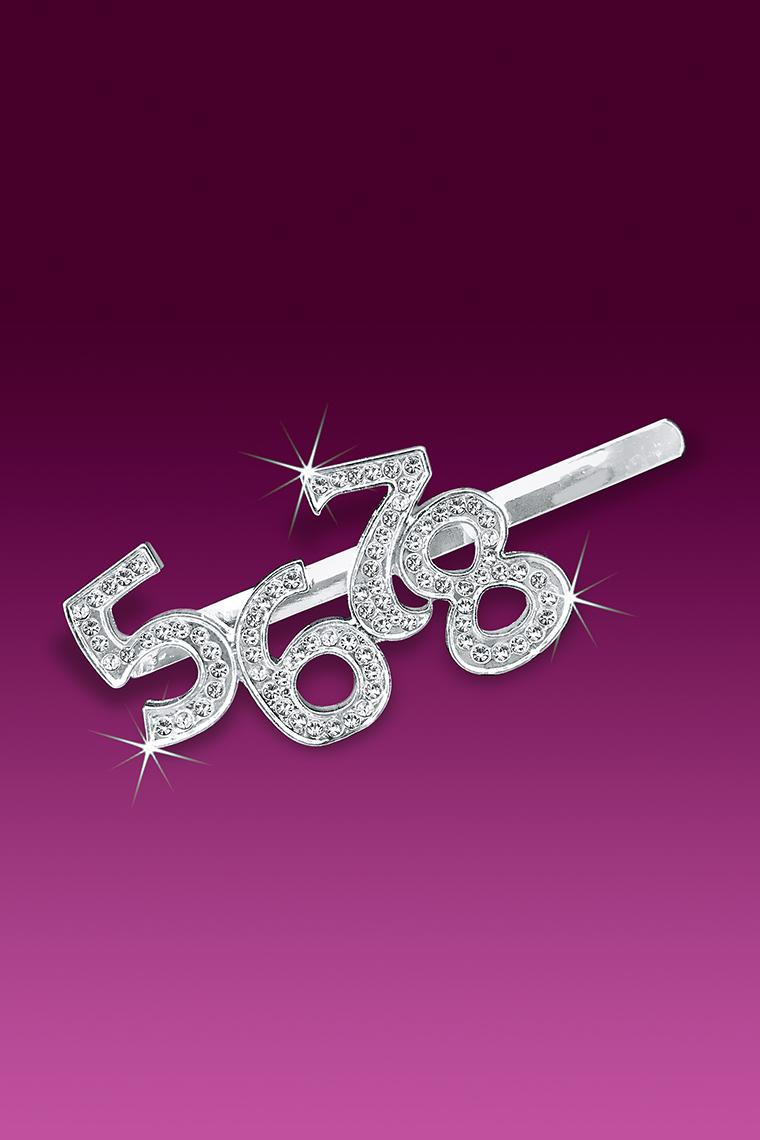Crystal 5678 Word Rhinestone Bobby Pin