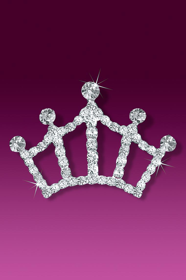 Perfect Pageant Rhinestone Tiara Crown Pin Brooch
