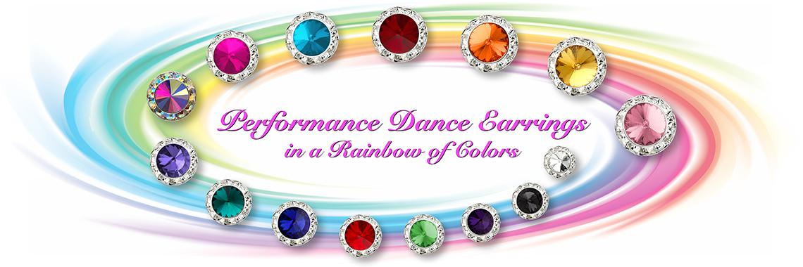 Rhinestone Performance Dance Earrings